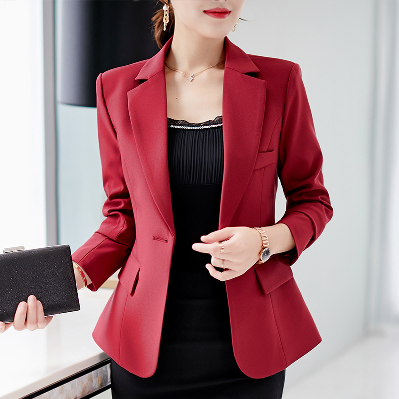 Women's Jacket 2018 New Autumn And Winter Slim Large Size Long Sleeve Small Suit Casual Fashion Long-sleeved Jacket Female