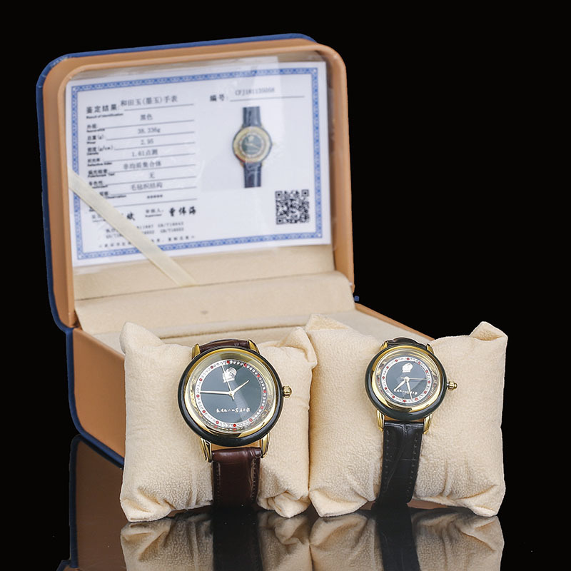 2019 Rushed Top Fashion New Arrival Wholesale Hetian Jade Sapphire Watch Japanese Men And Women Movement Quartz A Undertakes