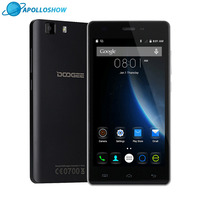 Orijinal DOOGEE X5 cep telefonları 5.0 InchHD 1 GB RAM + 8 GB ROM Android 5.1 Çift SIM MT6580 Quad çekirdek 1.0 Ghz 2400 mAH WCDMA WIFI