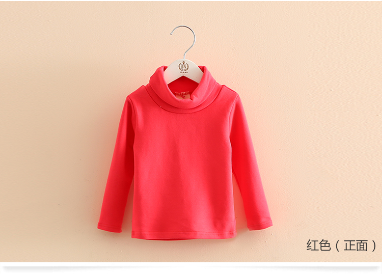 2018 Spring Autumn 2-10T Years Children'S Candy Color Sweet Long Sleeve High Neck Unisex Kids Girl Boy Basic Turtleneck T-Shirt (19)