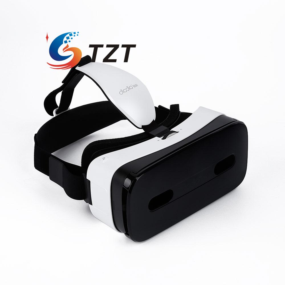 VR Goggle Virtual Reality 3D Glasses Touch Panel Smart Helmet for 5-6 Android iOS Phone Dlodlo-White vr goggle foldable virtual reality 3d glasses cardboard
