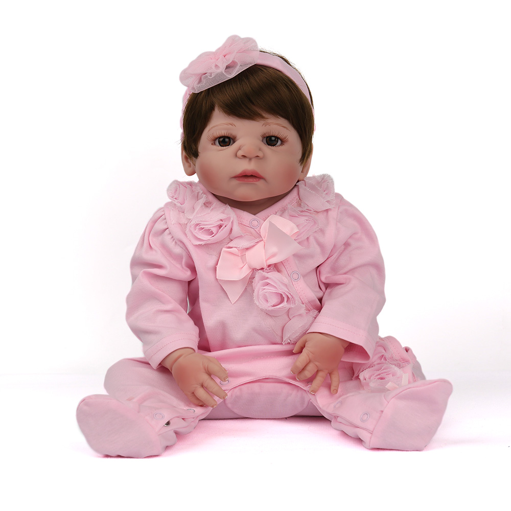57cm100% Full Silicone doll Reborn babies 23inch bebe alive collectible doll birthday gifts vinyl  newborn bathe brinquedos doll57cm100% Full Silicone doll Reborn babies 23inch bebe alive collectible doll birthday gifts vinyl  newborn bathe brinquedos doll