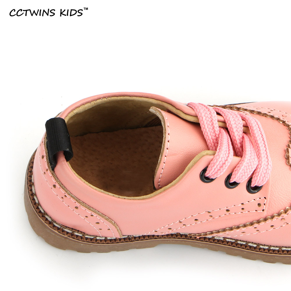 CCTWINS-KIDS-2017-spring-autumn-child-pink-flat-genuine-leather-toddler-fashion-shoe-baby-girl-brand-loafer-oxford-white-G9771-4