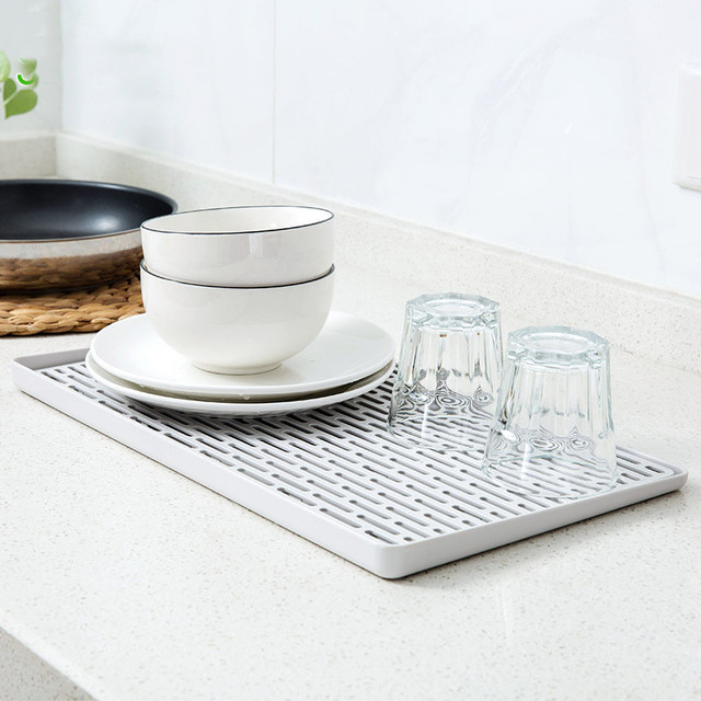 Double Layers Kitchen Drain Rack Cabinet Shelf Bowl Cup Dish Drainer Fruit Vegetable Tray Holder