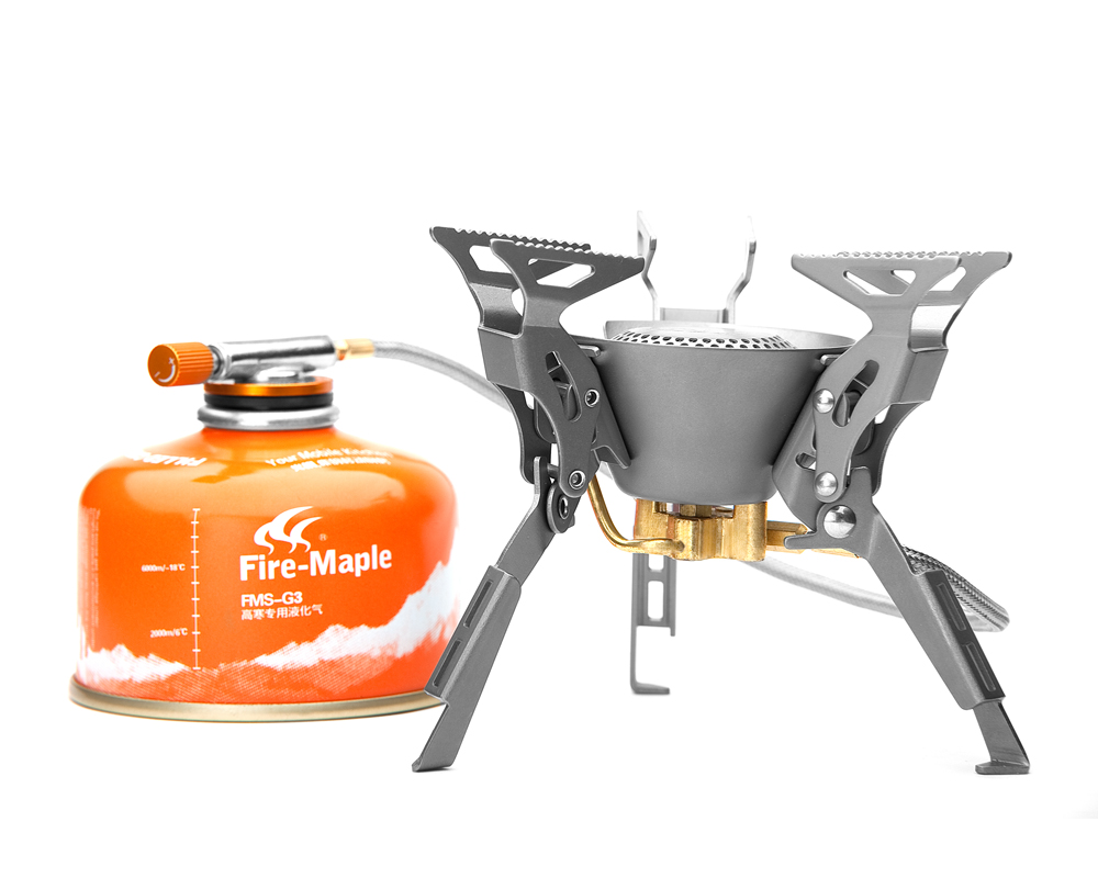 Fire Maple FMS-100T Outdoor Camping Picnic Titanium Preheat Tube Split Gas Stove Titanium fire maple sw8888 outdoor tactical motorcycling wild game abs helmet black