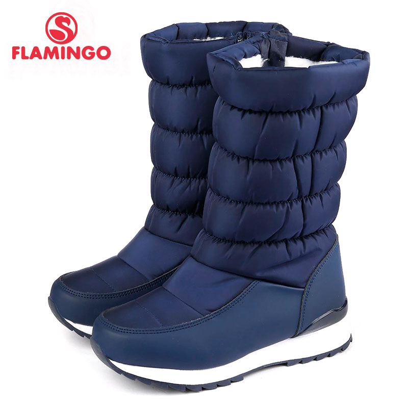 FLAMINGO 2017 new collection winter fashion snow boots with wool high quality anti-slip kids shoes for girl 72D-NQ-0438/ 0439 flamingo 2017 new collection winter fashion snow boots with wool high quality anti slip kids shoes for girl 72m yc 0430 0431