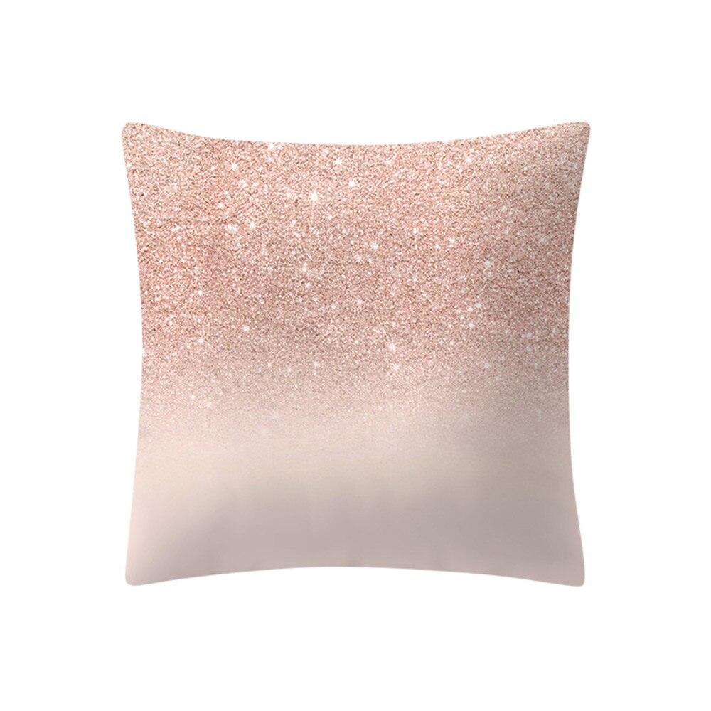 Us 152 50 Offnowoczesne Geometryczne Różowe Złoto Różowe Poszewka Poduszka Dekoracje Na Boże Narodzenie Poduszki Home Decor Sofa Rzuć Poduszki