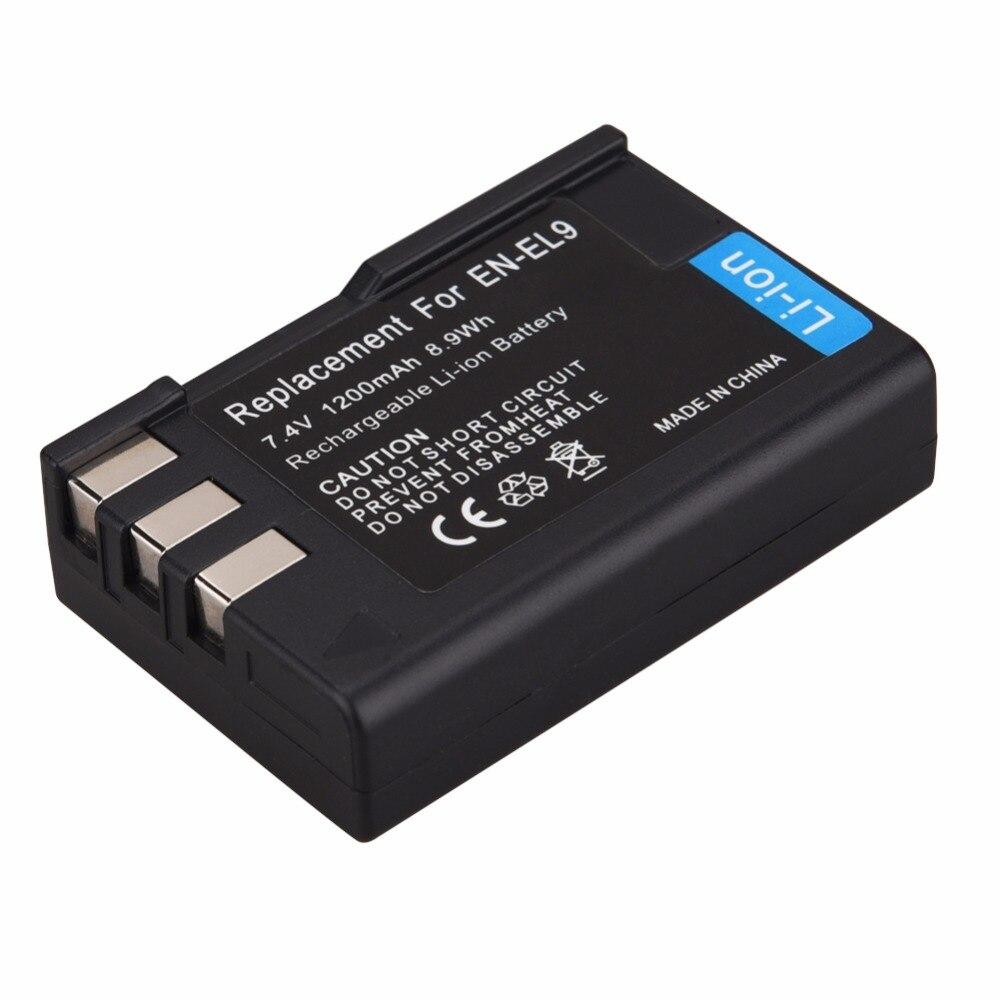 EN-EL9 es EL9 EN-EL9A de batería de la cámara digital AKKU para Nikon D40 D40X D60 D3000 D5000 D3X PM106 Cámara