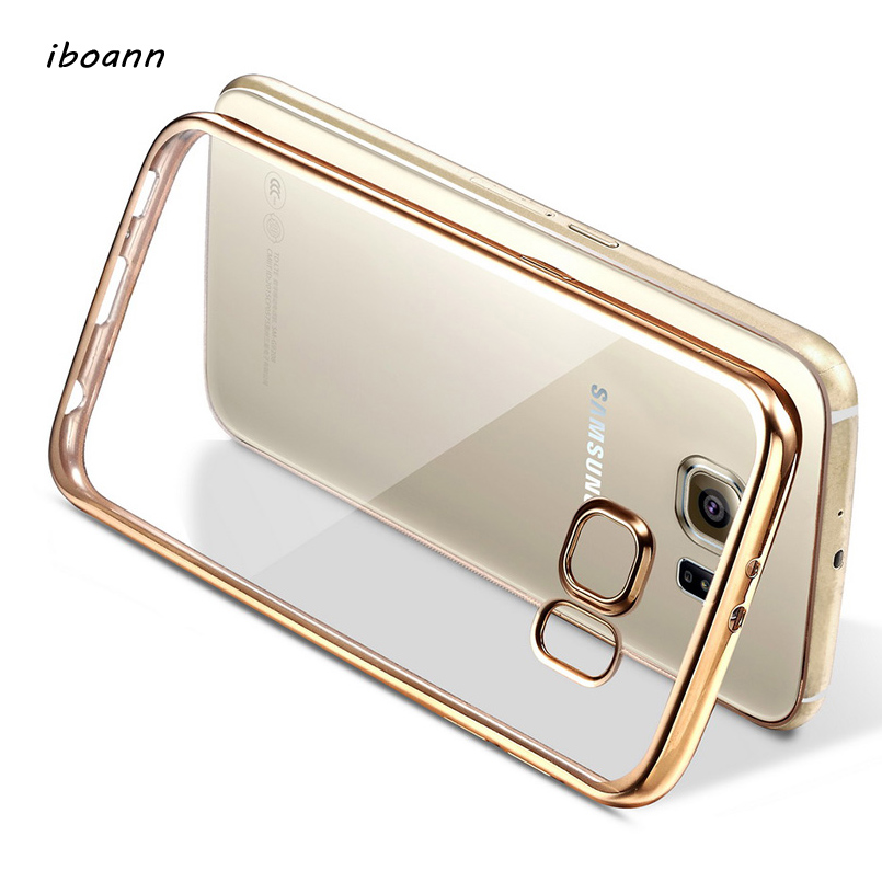 iboann laser soft gel Silicone tpu case for samsung galaxy S6 S7 edge S8 plus note 3 4 5 on 5 7 A8 A9 C5 C7 C9 cases phone cover