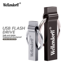 Waterproof Pen Drive 4G 8G 16GB Cle USB Stick With Key Ring External Storage Metal USB Flash Drive 64G 32G Pendrive Flash Drive(China)