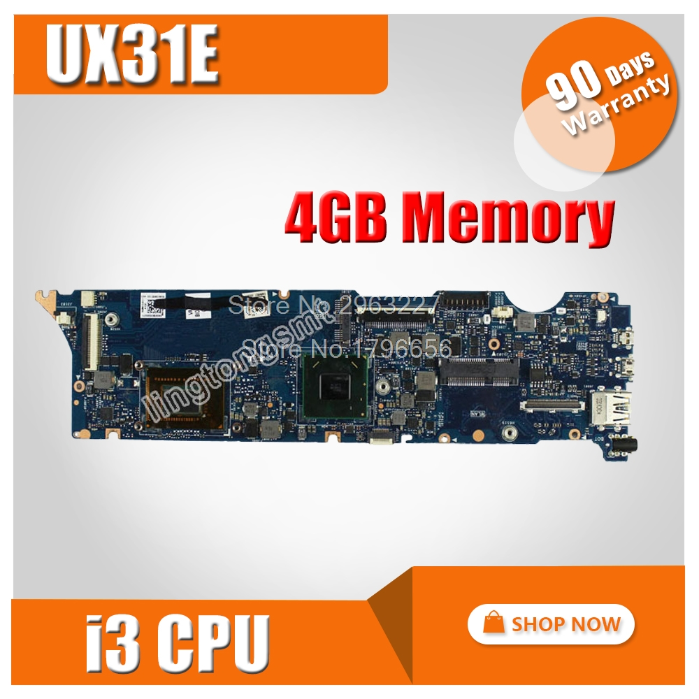 UX31E Motherboard I3-2367 4GB RAM HM65 For ASUS UX31 UX31E Laptop motherboard UX31E Mainboard Motherboard test 100% OK g73sw for asus motherboard rev2 0 hm65 4ram slots 3d connector 90r n3imb1000y mainboard full test