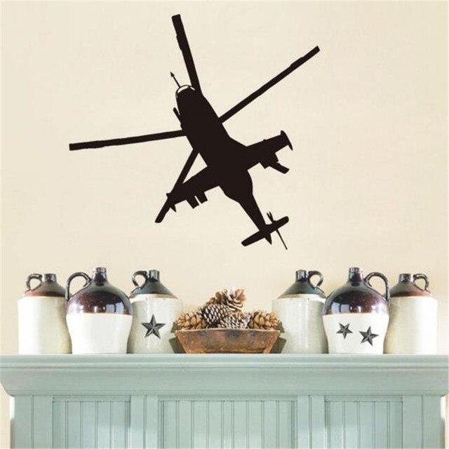Helicopter Wall Decals Bedroom Vinyl Art Sticker Home Decor Living ...