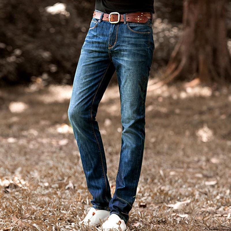 Business Leisure Plus Size Dress Jeans Autumn New Fashion Party Loose Jeans Men Straight Denim Pants