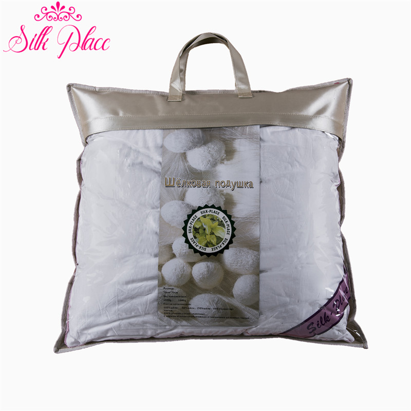 Brand 'YiLiXin''Silk Place Silk Pillow Fast Delivery From Russia Physical Therapy Anti-snoring Pure Natural Silk Pillow 70*70 silk