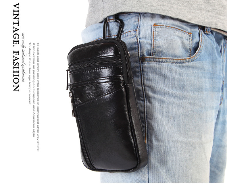 For AGM X3 Case Belt Clip Pouch Genuine Leather Waist Bag Mobile Phone Holster Cover For AGM X2 A8 X1 Mini SE Free Drop Shipping