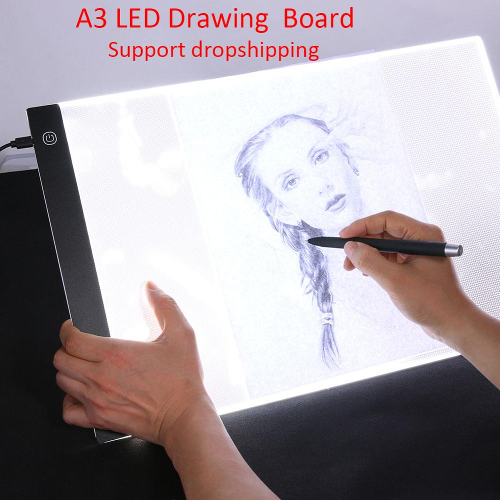 A3 led Numérique Comprimés Graphiste Mince pochoir planche à dessin boîte lumineuse Traçage nappe de table led Écrire Peinture Conseil Pad