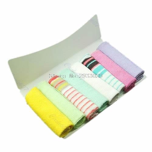 8Pcs New Soft Baby Newborn Children Bath Towels Washcloth For Bathing Feeding -B116