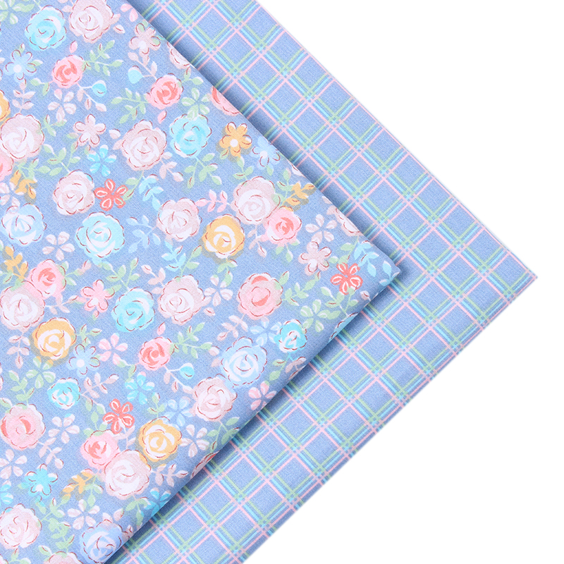 2016 New 2 pic/lot 40x50cm Cotton Fabric Sewing Quilting Patchwork quilts Tissue baby dress Bedding tecidos DIY Doll cloth j05