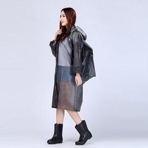 Image 5 - Moda EVA przezroczysty wodoodporny damski płaszcz przeciwdeszczowy poncho wiatroszczelny płaszcz przeciwdeszczowy z torbą szkolną lokalizacja wspinaczka Tour płaszcz przeciwdeszczowy