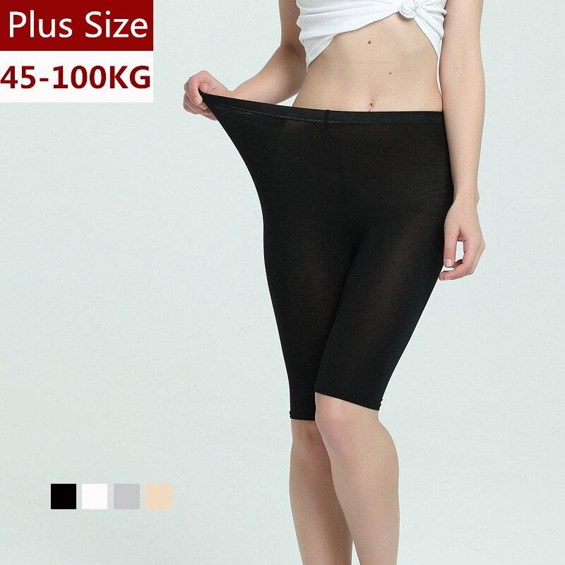 Plus Size Super Thin Short   Leggings   Women Soft Modal Breathable Pants Thigh Anti-friction Summer Womens   Leggings   For 45-100kg