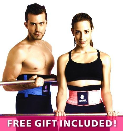 83a1cf5d88dbd As Seen On TV Tecnomed Belt Fitness Body Shaper with blue black color now  avaialable