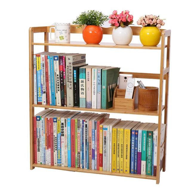 Two office desk system bookshelves Simple children's primary and secondary school students receive wood storage objects