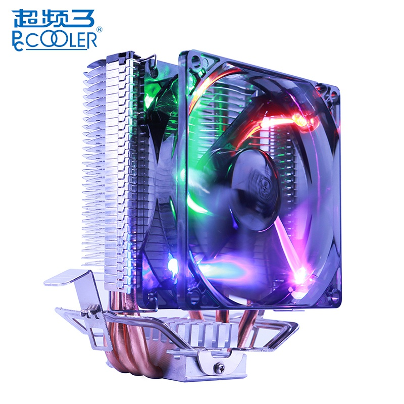 PCCOOLER S99 4 Pin CPU Cooler Cooling Fans Silent Heat Sink for AMD 939 AM2 FM1 For Intel LGA775 115X 2011 Heatsink CPU Fans 4 heatpipe 130w red cpu cooler 3 pin fan heatsink for intel lga2011 amd am2 754 l059 new hot