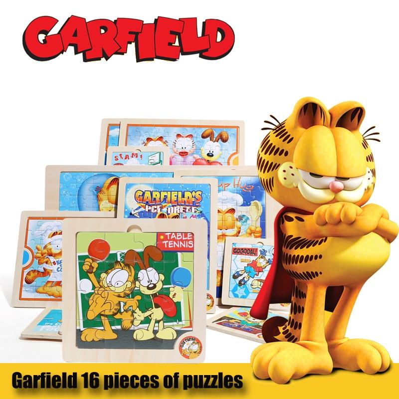 Garfield juguetes educativos de madera animal de madera Rompecabezas - Juegos y rompecabezas