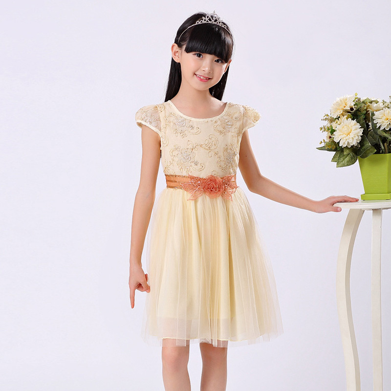 Little Girls Princess Tulle Dress Summer Children Clothing Formal Girl  Dresses Teenagers Party Dress Frock Design Kids Clothes-in Dresses from  Mother   Kids ... 424d145d1783