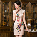 TIC-TEC TIC-TEC women cheongsam short qipao 3D print chinese traditional oriental dresses evening elegant party clothes P2870