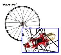 new RXR MTB mountain bike CNC hollow front 2 rear 5 sealed carbon bearings hub 26/27.5/29 inch Disc brake wheels wheelset rim