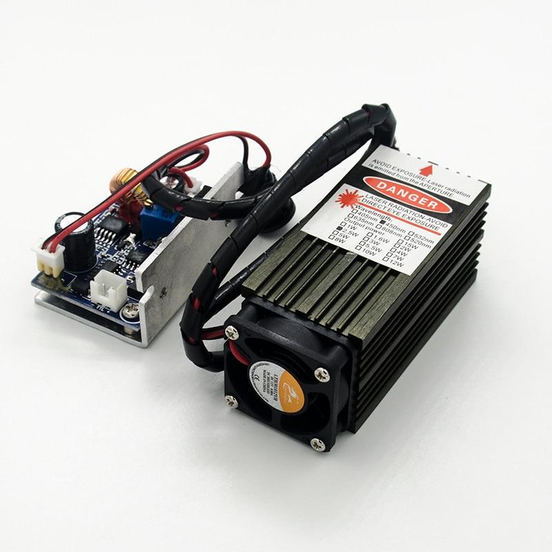 450 nm, 2500 mW 12 V suure võimsusega lasermoodulil on TTL, - Puidutöötlemismasinate varuosad - Foto 5