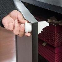 4 шт. магнитного невидимой ребенок Детская безопасность замок шкафа защиты детей дети ящик шкафчик для безопасности Шкаф Замки