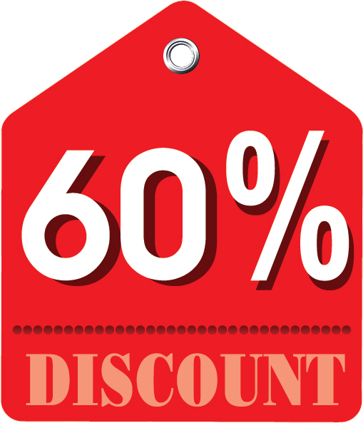 Image result for 60 discount
