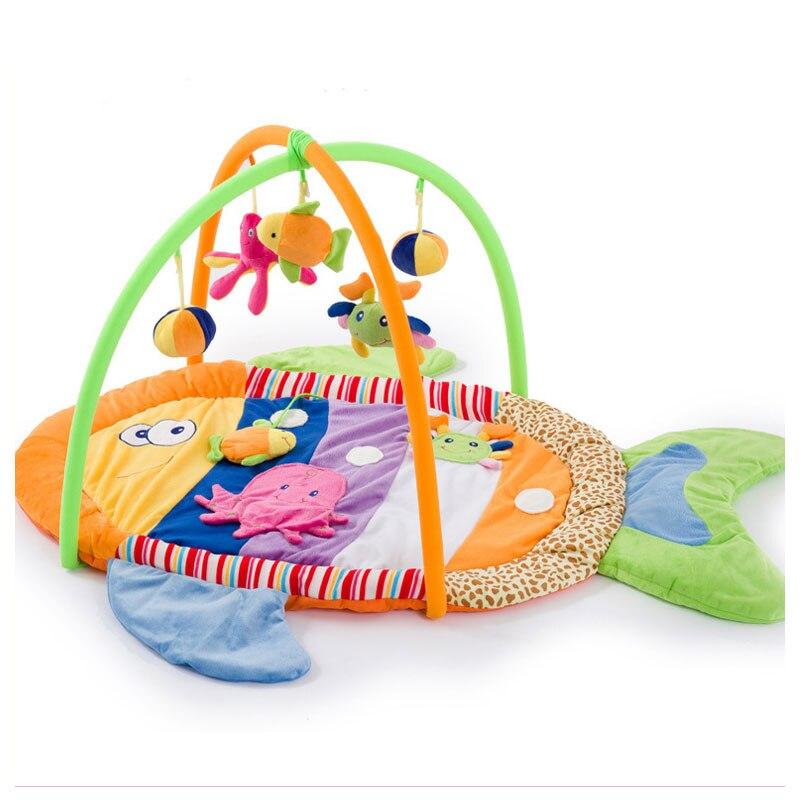Cinq couleurs poissons bébé jouets Bundle jeu ramper couverture corps Gym ramper tapis bébé activité tapis de jeu magique collecte tapis de sol cadeau