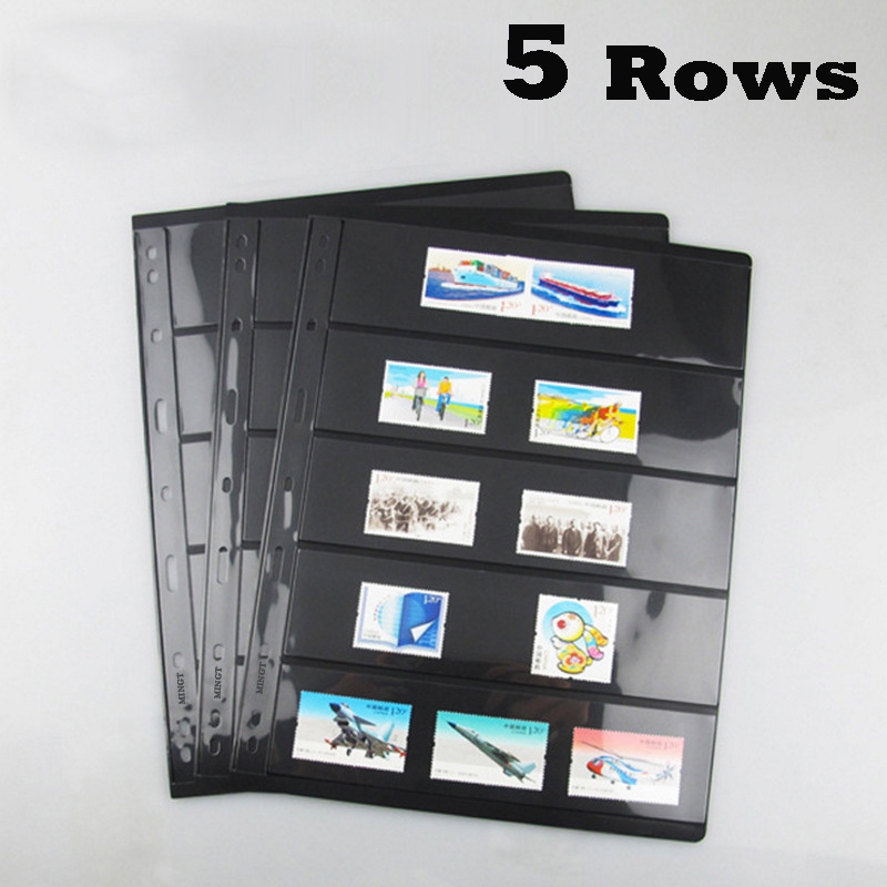 10PCS/4PCS Postage Stamp Album Sheets Professional PCCB 5 Rowall Post Stamps Album Pages Loose Leaf Collecting Book 100 pcs lot postage stamps good condition used with post mark from all the world stamp collecting estampillas de correo