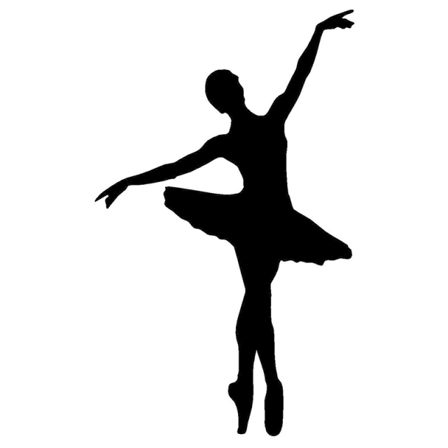 9 15cm Ballerina Ballet Dancer Funny Sticker Window Wall