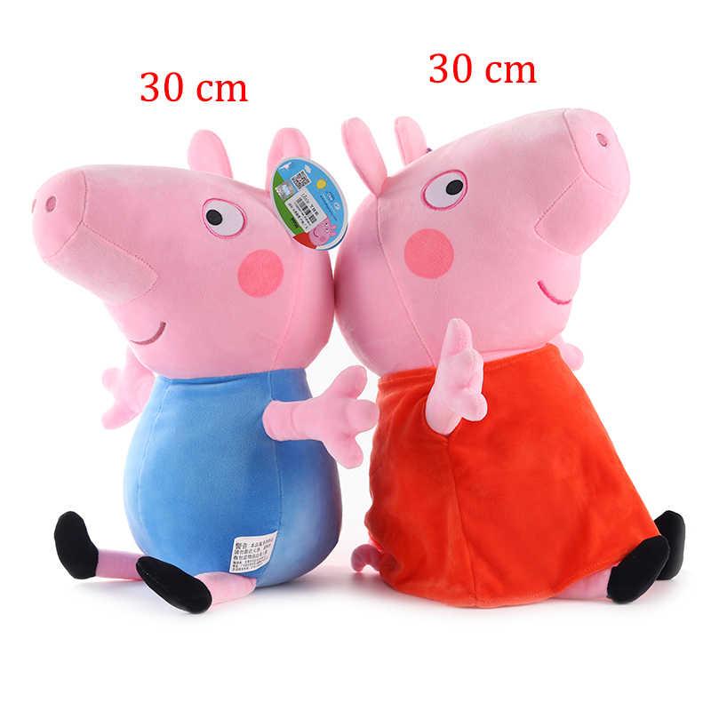 30 centímetros Peppa Pig George Família Pepa Pig Brinquedos De Pelúcia de Algodão Stuffed Boneca Decorações da Festa de Crianças Brinquedos de Presente de Natal