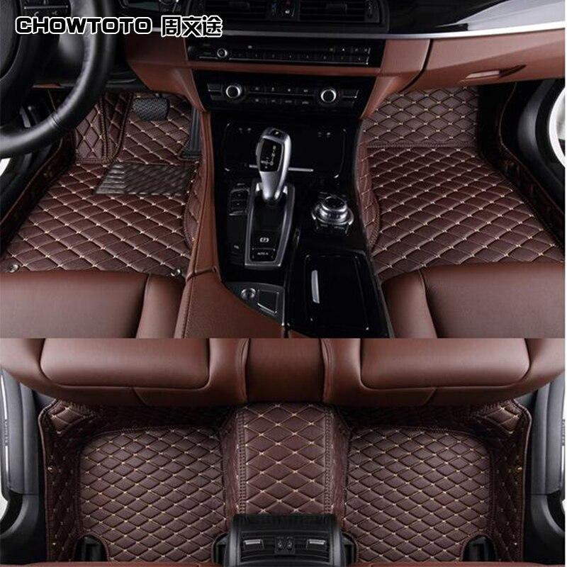 CHOWTOTO AA Custom Floor Mats For Chevrolet Captiva/TRAX/Camaro/Cruze/Malibu/Epica/Aveo/Sail/Spark Non-Slip Waterproof Carpets