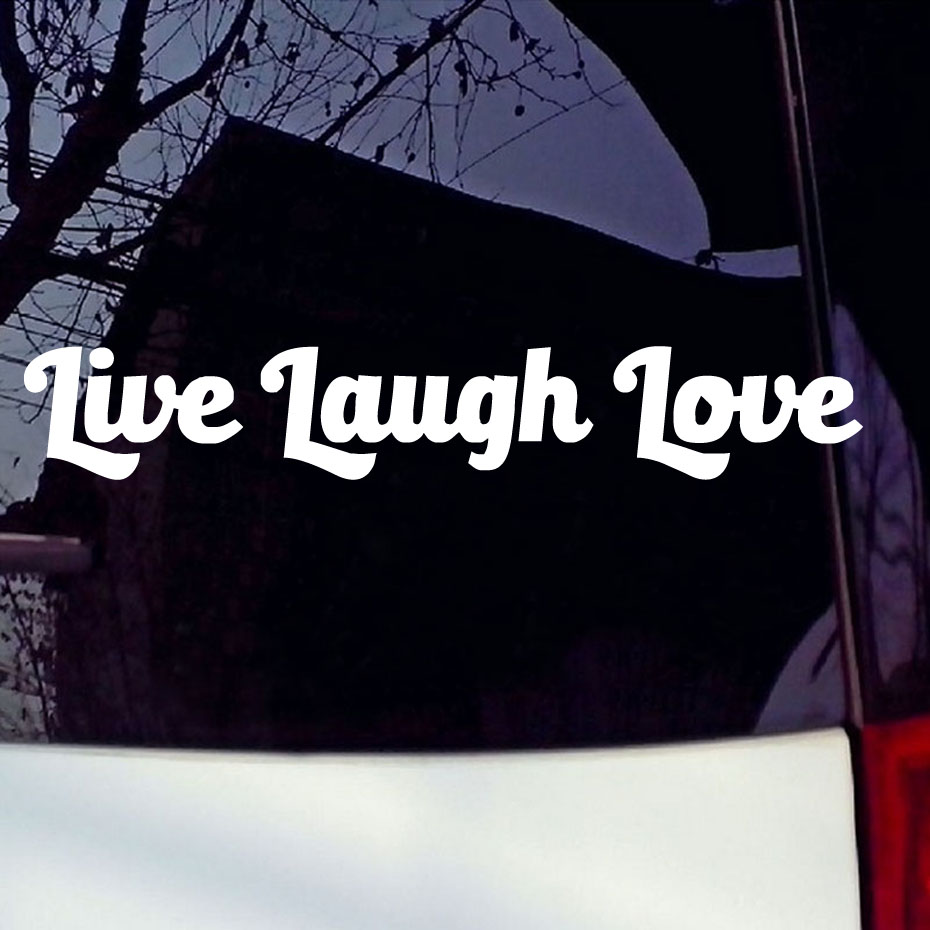 Online buy wholesale car peace from china car peace wholesalers live laugh love vinyl decal car sticker car window bumper wall symbol heart peace car styling buycottarizona