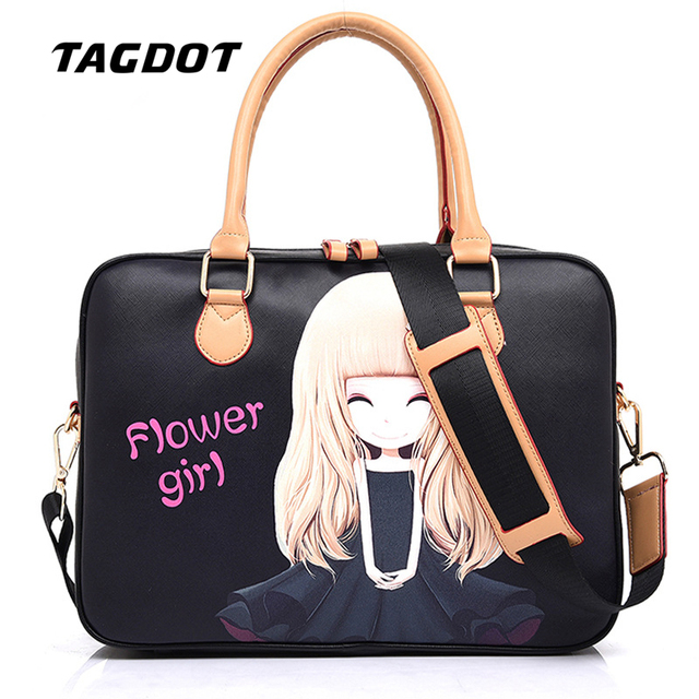 Tagdot brand computer bags for women messenger PU leather laptop bag women 15.6 15 14 13.3 13 10 inch leather notebook bag 2018