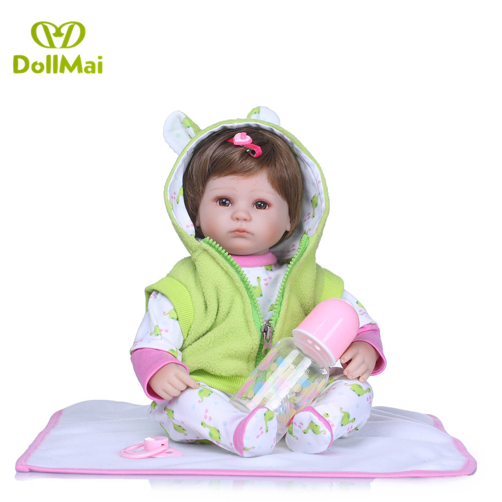40cm Soft Body Silicone Reborn Baby Doll Toy For Girls Vinyl Newborn Girl Babies Dolls Kids Gift bebes reborn bonecas40cm Soft Body Silicone Reborn Baby Doll Toy For Girls Vinyl Newborn Girl Babies Dolls Kids Gift bebes reborn bonecas