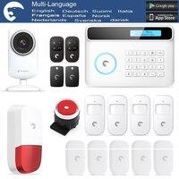 Бесплатная доставка DHL etiger S4 PSTN и GSM сигнализация Системы Беспроводной охранной сигнализации дома Системы с Android и IOS приложение
