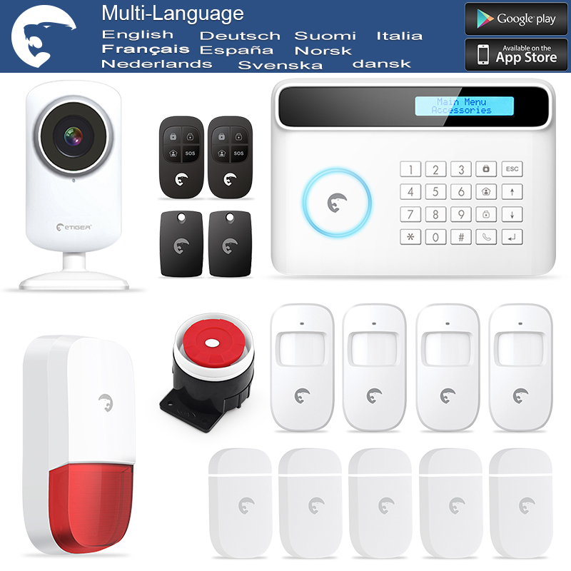 DHL Free Shipping etiger S4 PSTN And GSM font b Alarm b font System Wireless Security