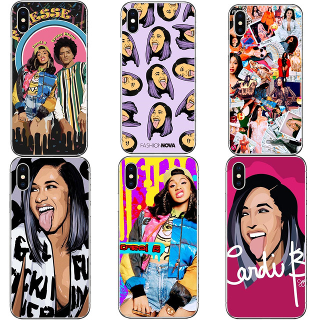 Fashion Nova Cardi B tongue Finesse Hard PC Phone Cases Cover For iPhone 5 5S SE 6 6S Plus 7 XR