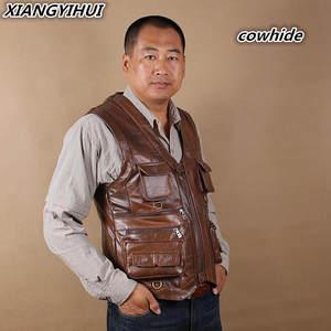 8c1e8dee2b09e xiangyihui Mens Vest Motorcycle Jacket Male Waistcoat