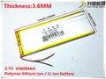 3.7 V 4500 mAh [3657156] Polímero de iones de litio/batería Li-ion (ATL celular) para tablet pc, BANCO de POTENCIA, pipo, cubo, teléfono celular