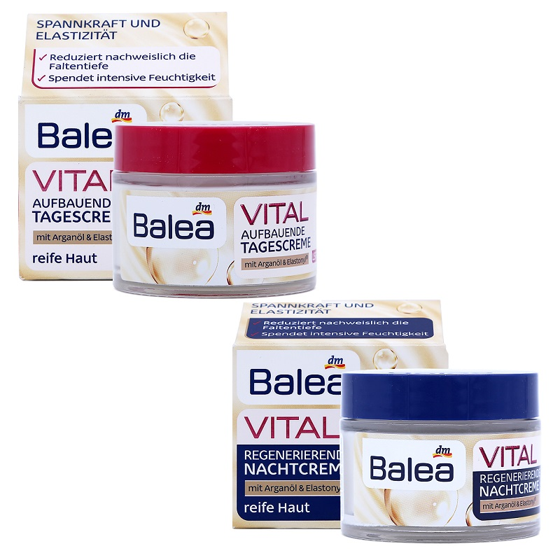 Crème de jour Balea Upliffing + crème de nuit sertie de Baobab pour les peaux matures âgées de 40 ans et + Anti-âge Anti-rides améliore l'élasticité de la peau