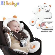 Baumwolle Baby Kinderwagen Liner Sitzkissen Weiche Säuglings Dicken Pram Pad Baby Stuhl Auto Sitz Matte Baby Kinderwagen Kissen Zubehör