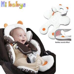 Image 1 - Coton bébé poussette doublure siège coussin doux infantile épais landau coussin bébé chaise voiture siège tapis bébé poussette coussin accessoires